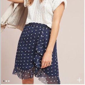 Anthropologie Hutch Clip Dot Mini Skirt